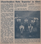 The Odessan - September 25, 1969 -Vol VIII, No. 1     Cheerleaders Rate 'Superior' in Clinic